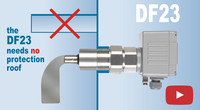 Explanation - MOLOSroto DF23 robust rotary paddle level limit switch with reinforced blade shaft for large silos